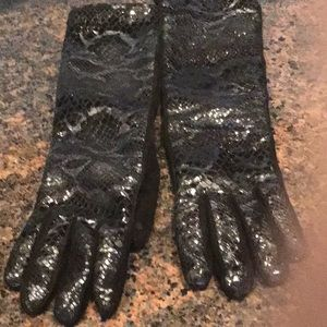 Long wool lining gloves